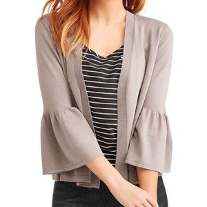 Time & Tru Soft Cardigan 3/4 Length Bell Sleeves